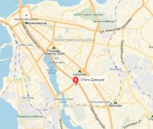 Расположение отеля на Карте города